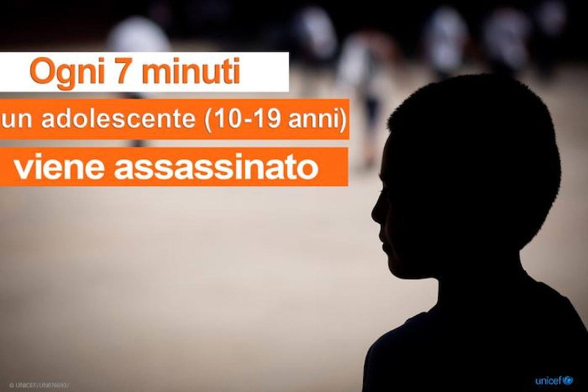 UNICEF: nel mondo ogni 7 minuti un adolescente viene ucciso