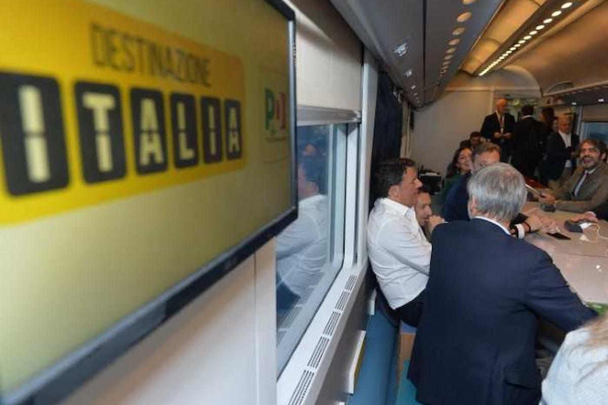 Renzi va via col treno, ma poi ritorna... purtroppo!