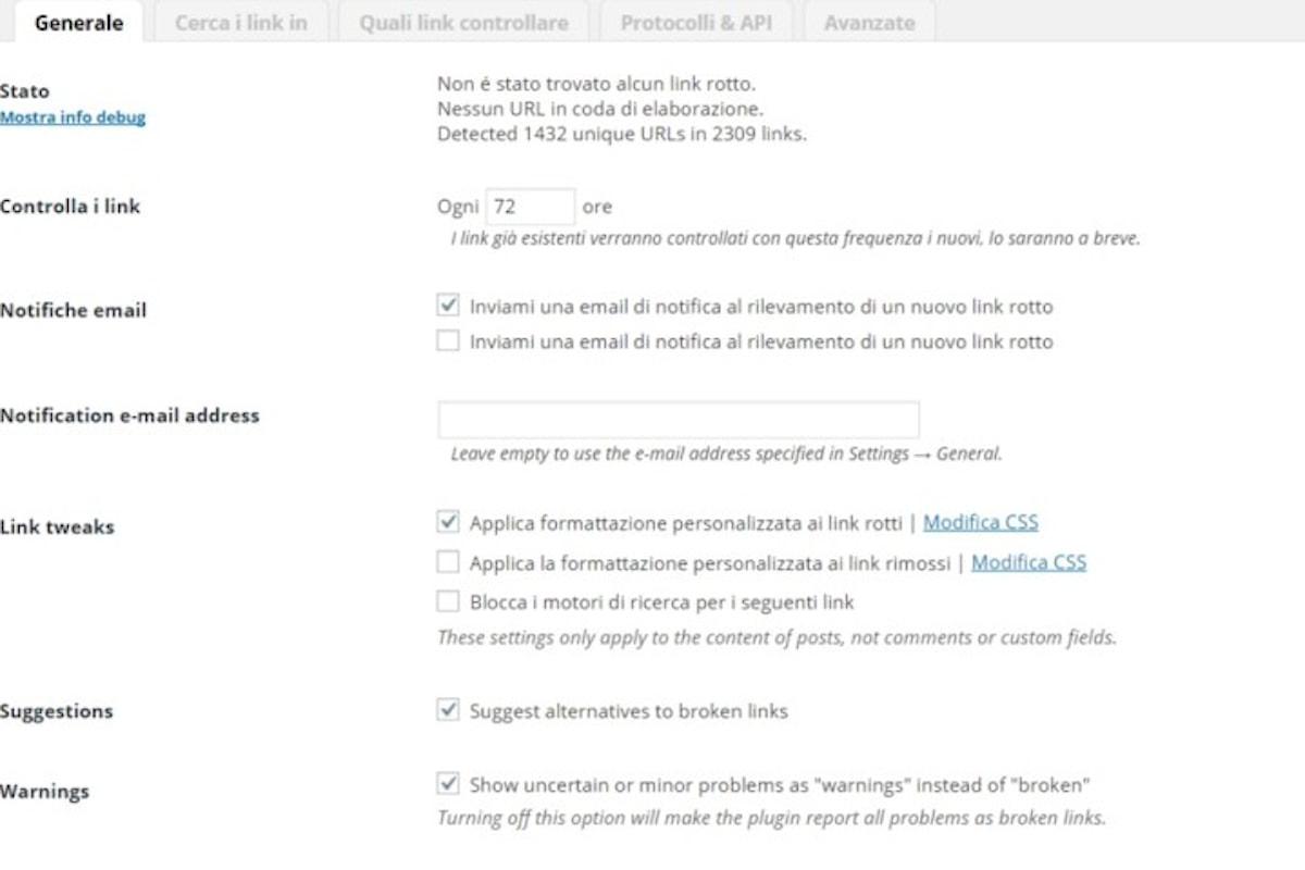 Come Scovare Link non Funzionanti su Wordpress in modo del tutto automatico