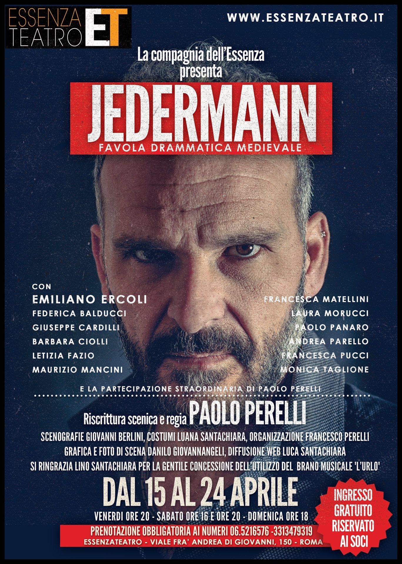JEDERMANN di Paolo Perelli a Essenza Teatro