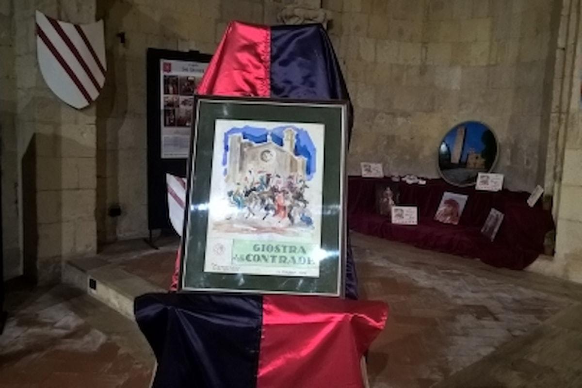 Nel suggestivo Auditorium di San Pancrazio una mostra sulla Giostra delle Contrade di Tarquinia