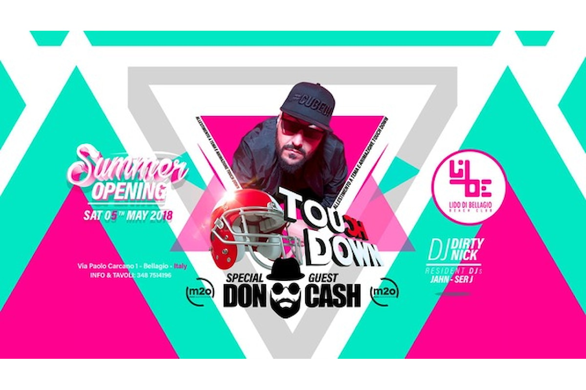 5 maggio, Lido di Bellagio Opening con Touch Down Ibiza