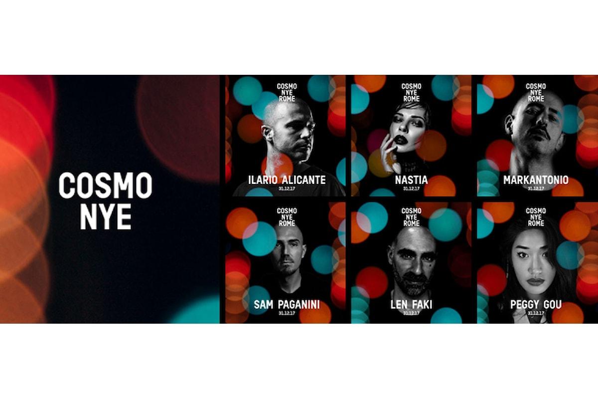 Il 31 Dicembre 2017 arriva in Roma EUR Capodanno Cosmo Festival NYE