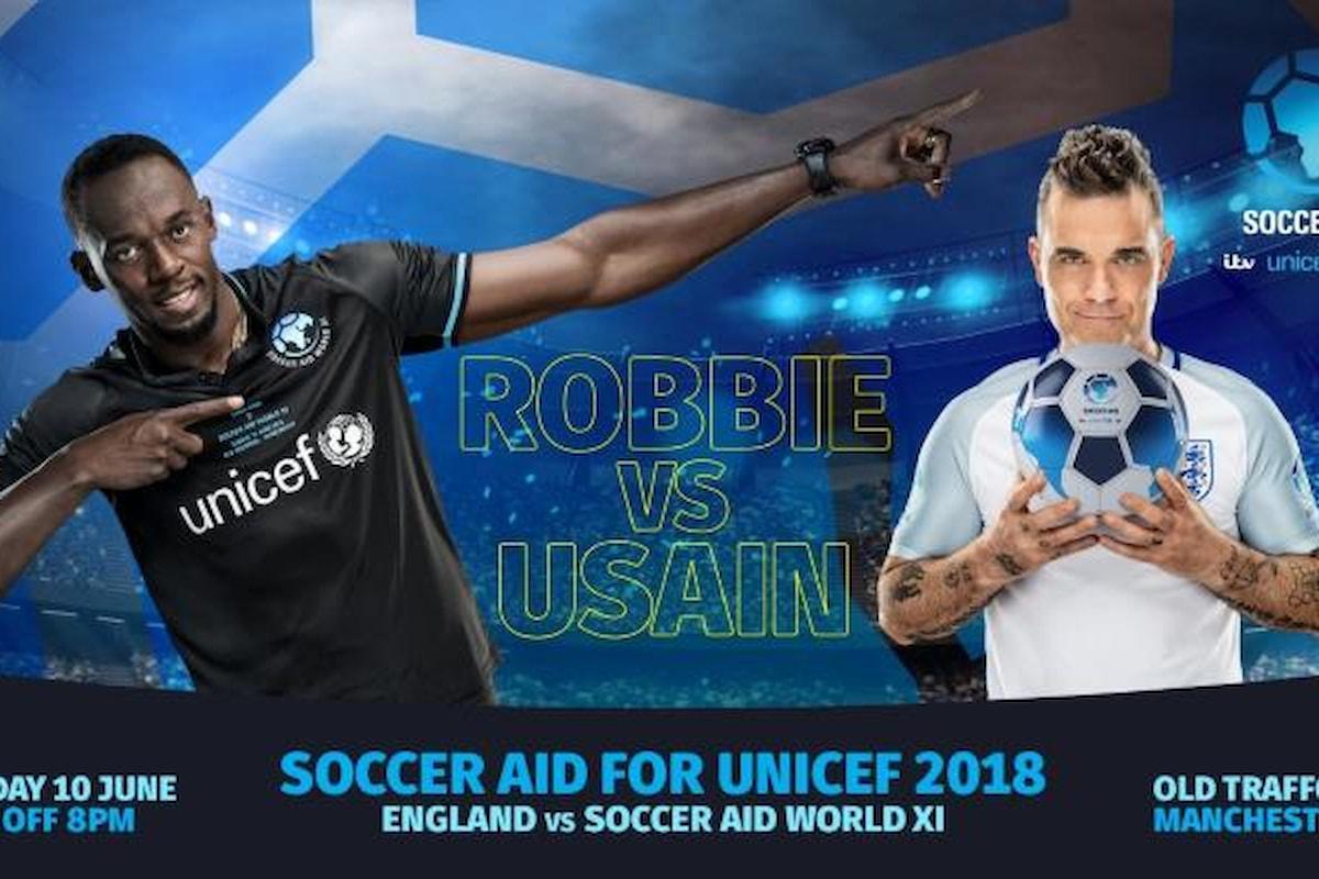 Usain Bolt ha deciso: giocherà all'Old Trafford... per l'UNICEF