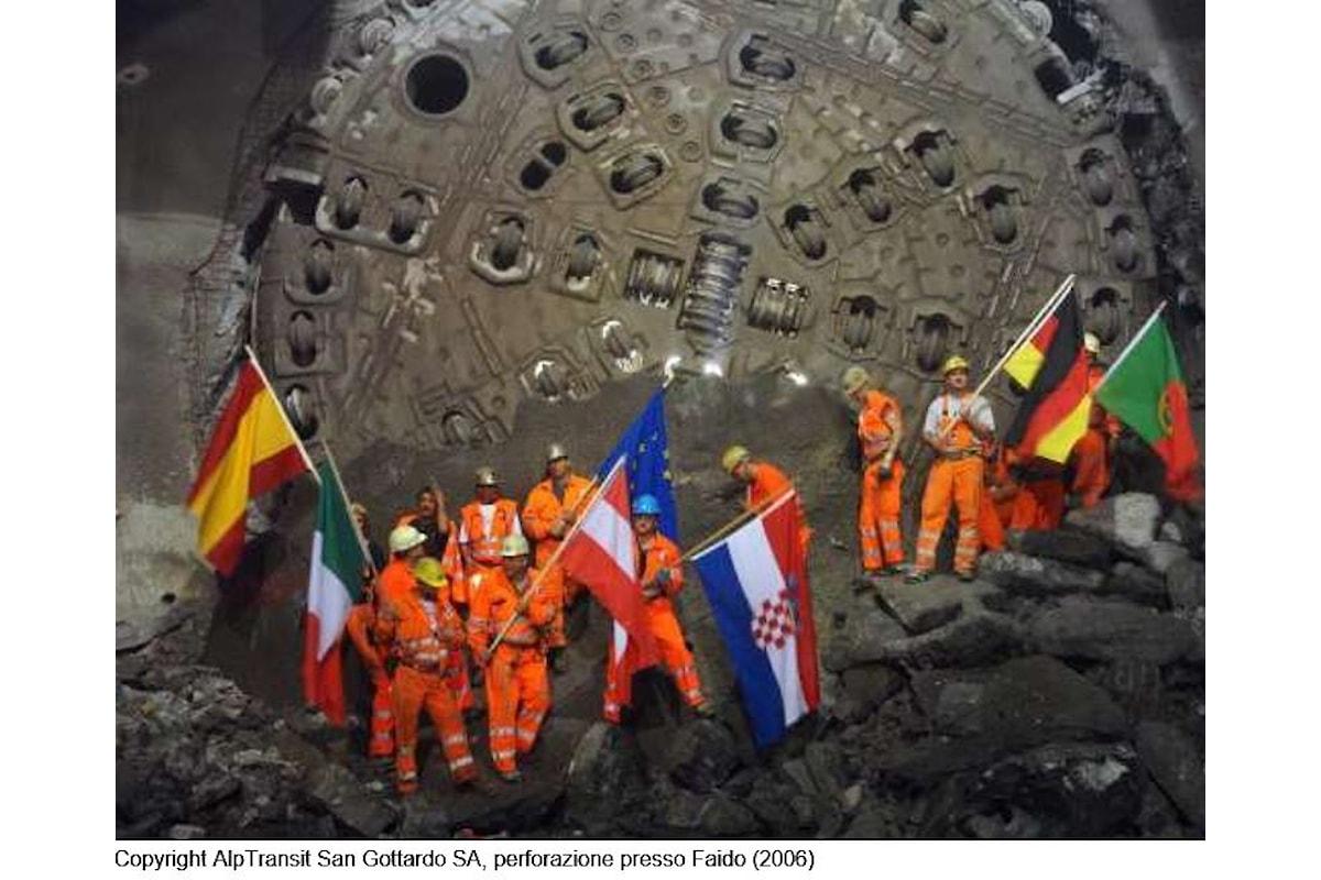 Il 1 giugno sarà inaugurata la galleria del San Gottardo, il tunnel ferroviario più lungo al mondo