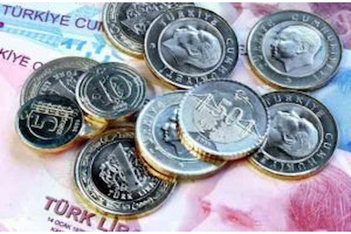 Forex: giorni neri per la lira turca. Il cross Usd-Try sale a valori record