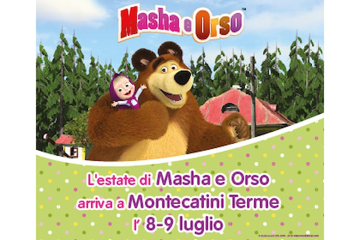 L'estate di Masha e Orso arriva a Montecatini terme - evento gratuito per bambini 8/9 luglio