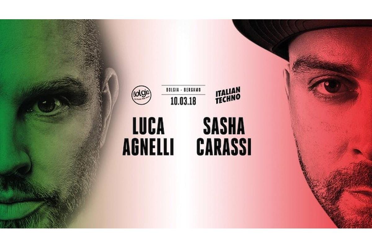 10 marzo, Luca Agnelli & Sasha Carassi al Bolgia di Bergamo