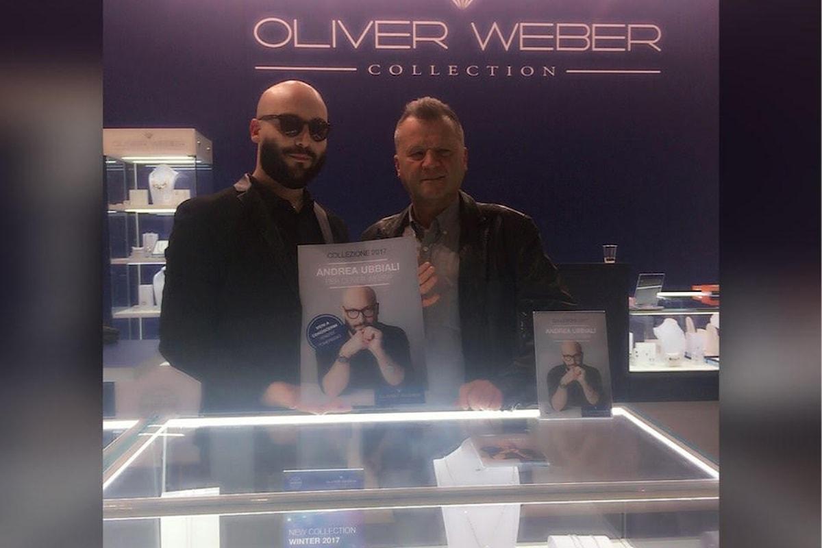 HOMI Milano, la fiera degli stili di vita da tutto il mondo, Andrea Ubbiali ospite allo stand Oliver Weber il colosso della gioielleria austriaca.