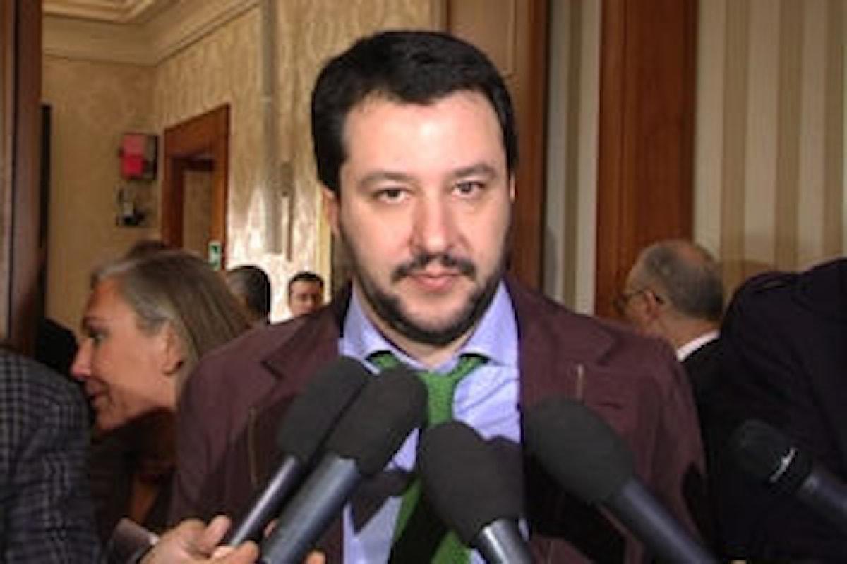Matteo Salvini commenta l'ok della Consulta
