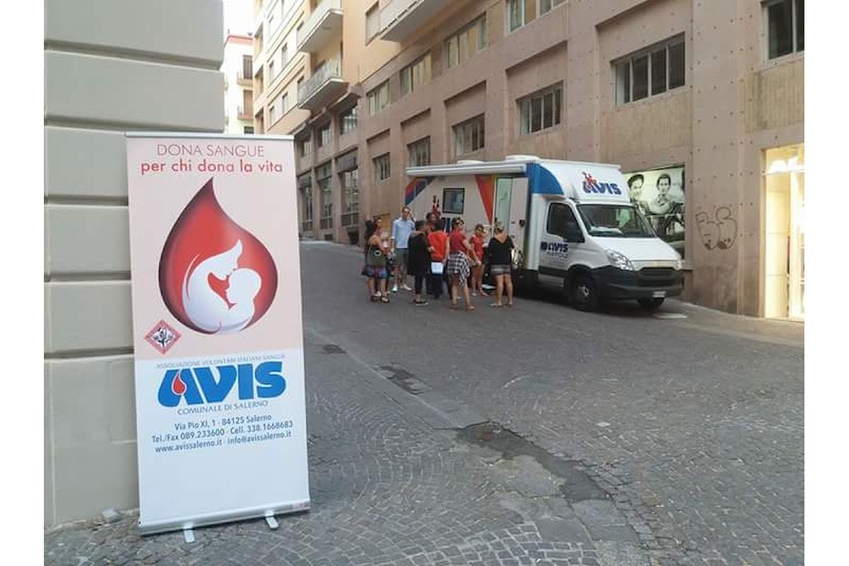 Carenza sangue estiva, il grido dell'AVIS Salerno