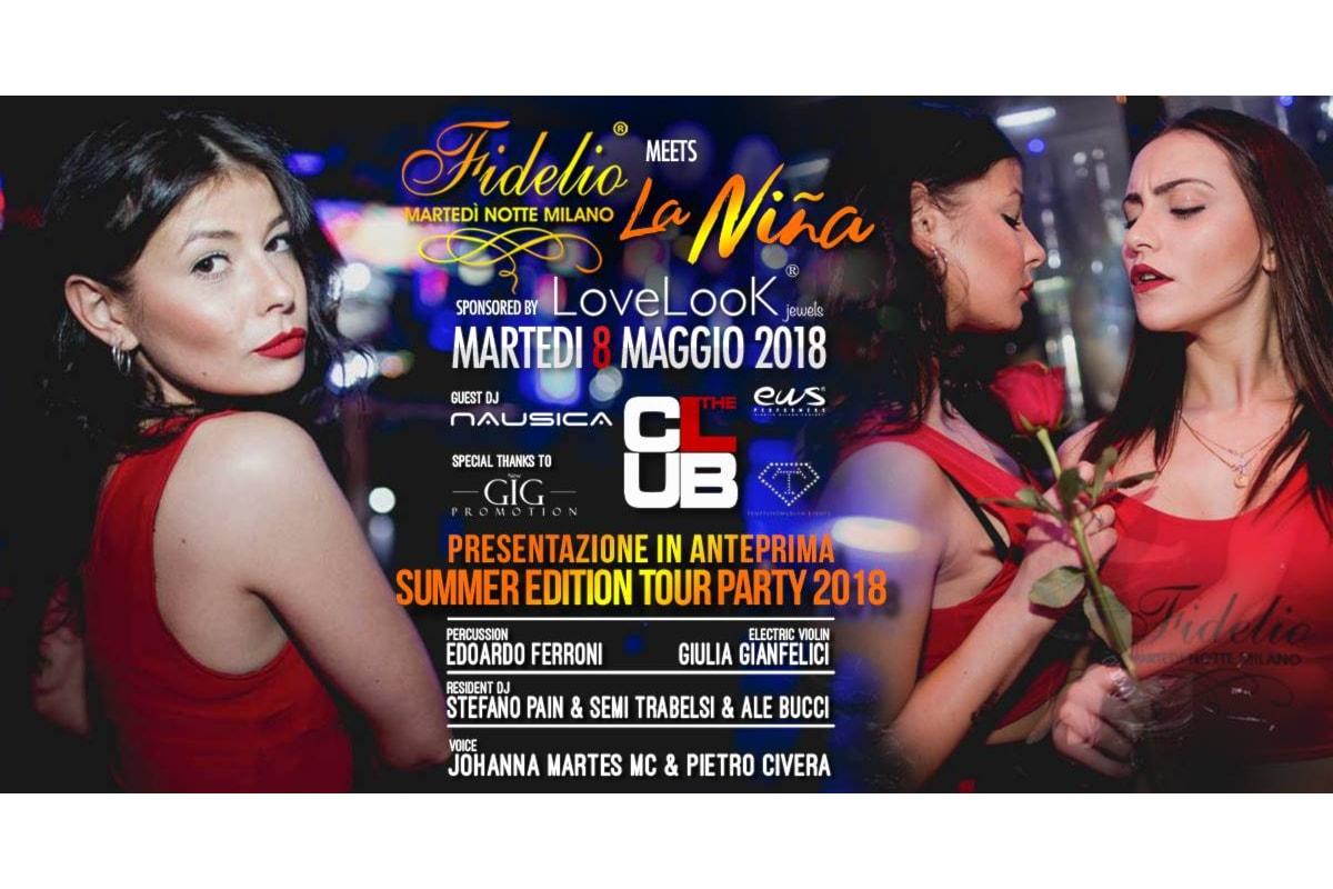 Fidelio Milano c/o The Club: Closing Party l'8 maggio con La Niña Tour Party