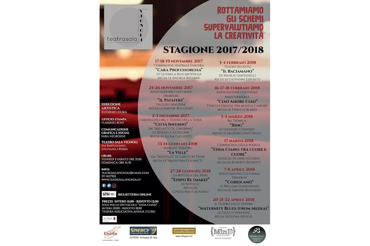 Drammaturgia contemporanea, prosa, musical e autori giovani al Teatro Sala Vignoli