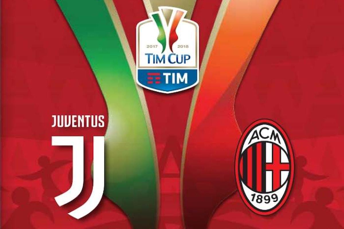 Mercoledì 9 maggio la finale di Coppa Italia tra Juventus e Milan