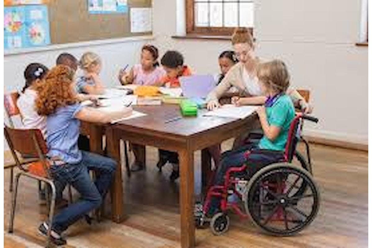 In Italia 160.000 aluni disabili e 88.000 insegnanti di sostegno