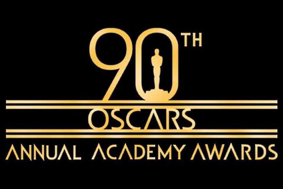Sul canale 304 di Sky la 90.esima edizione della cerimonia di assegnazione degli Oscar