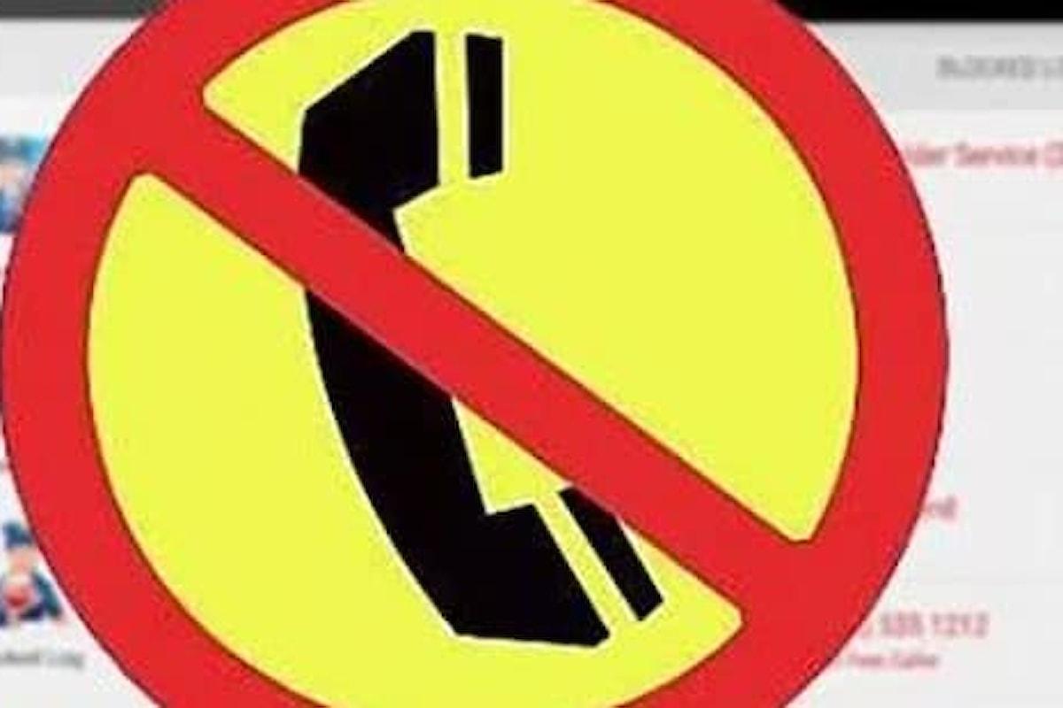 Bloccare chiamate fastidiose dei call center