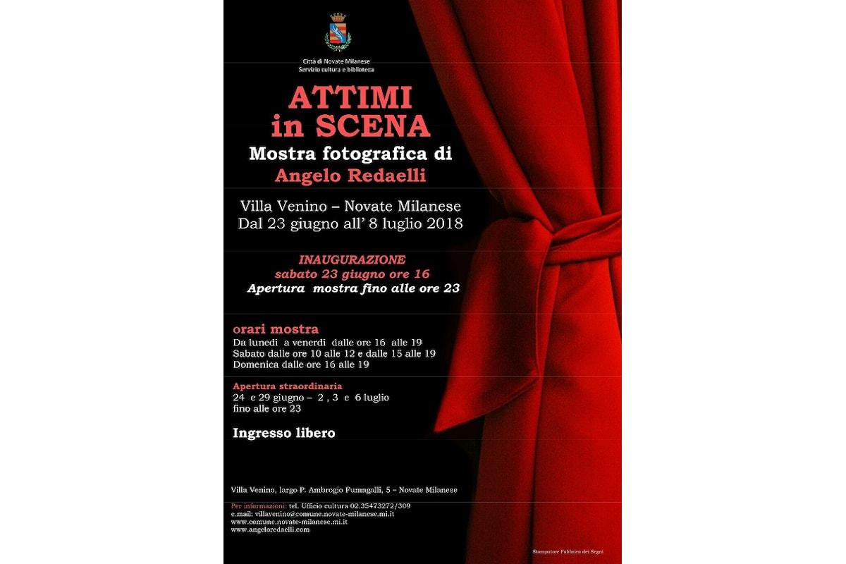 """Angelo Redaelli, scrittore di immagini, presenta a Villa Venino: """"Attimi in Scena"""""""