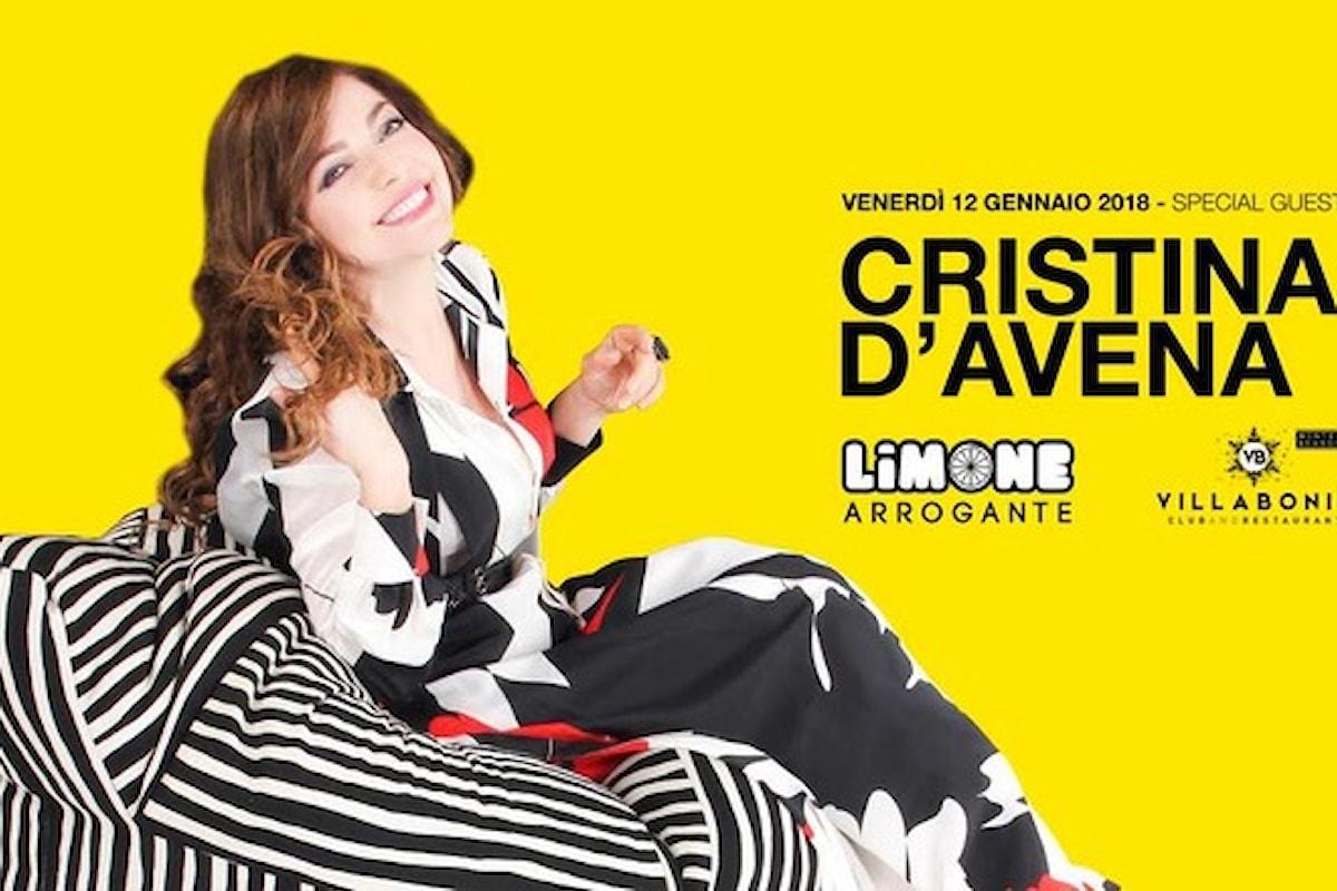 12 gennaio, Cristina D'Avena a Villa Bonin a Vicenza per il party Limone Arrogante